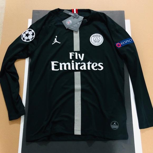 brand new a6302 2e6b4 2019 ⚽️ Mbappe #7 PSG Jordan Soccer Jersey UEFA NWT